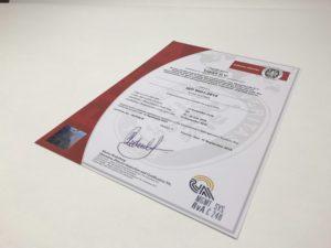 Tribelt_metal_conveyor_belt_ISO_9001_certificate